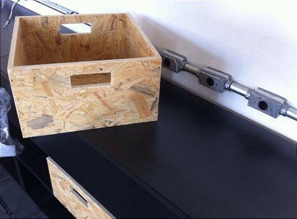 caixote de madeira osb - somente venda