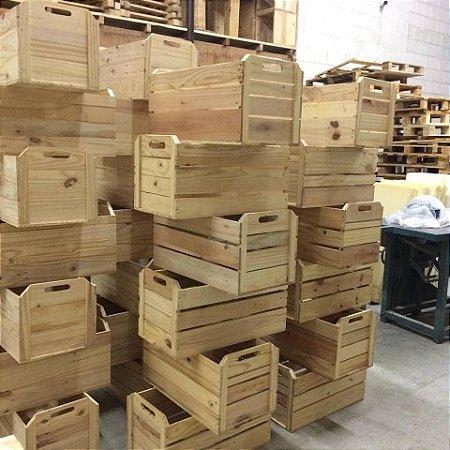 caixote de feira formato laranja