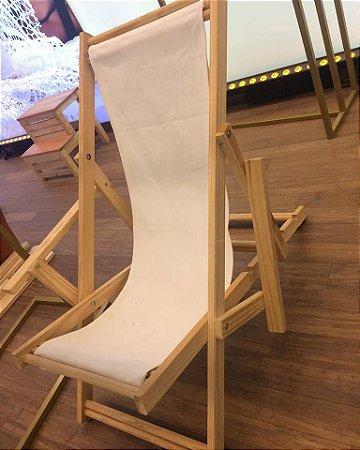 Cadeira espreguiçadeira de madeira de pinus - cores sortidas