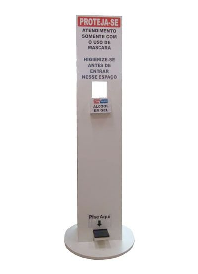 Totem para alcool gel 150x30 cm