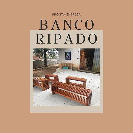 Banco sapateira Ripado mix de madeiras brasileiras
