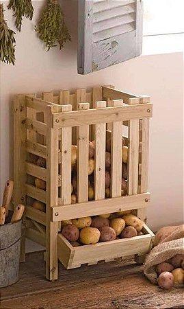 Fruteira ripado para frutas e legumes de palete