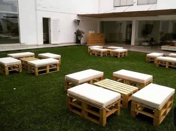 Lounge Puff simple 112x48x40 - almofada 12 cm para 3 pessoas