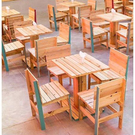 Mesa e cadeiras para restaurante