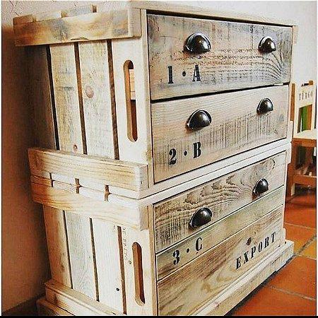 Armário caixote - gaveta ou porta