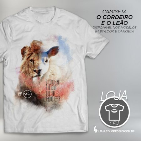 Camiseta O Cordeiro e o Leão