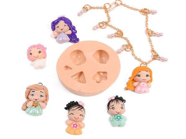 604 - Meninas e bichinhos minis p/ pulseiras