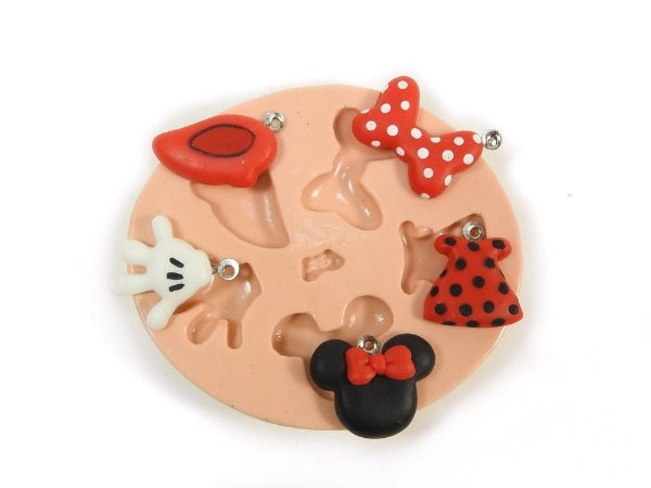 619 - Mickey e Minie minis para pulseiras