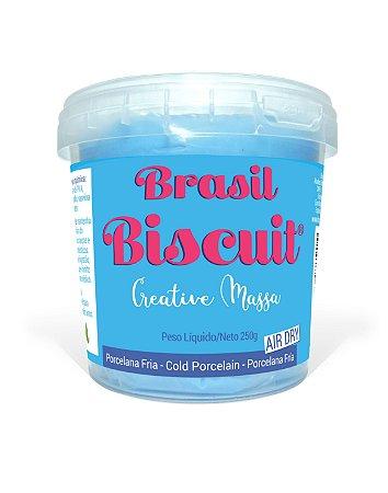 Massa Brasil Biscuit - 250 gramas Azul Céu