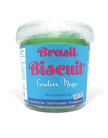 Massa Brasil Biscuit - 250 gramas Verde Claro