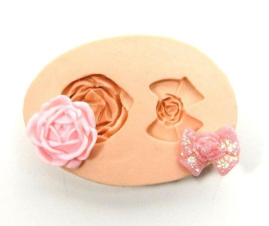419 - Rosa e laço mini