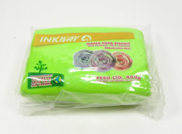 MASSA INKWAY - verde folha - 400 gr.