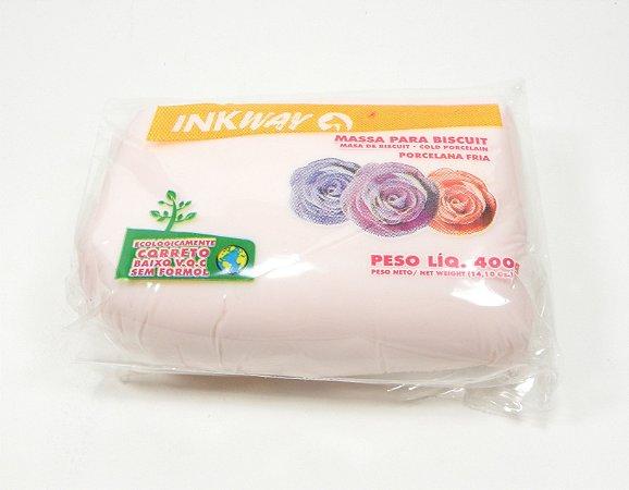 MASSA INKWAY - rosa bebê - 400 gr.
