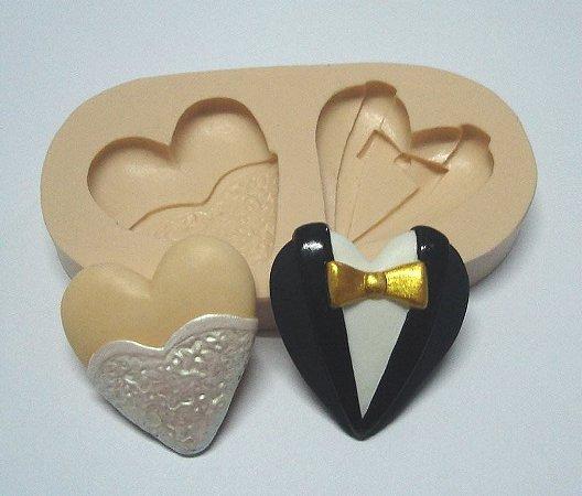 793 - Dois corações noivos