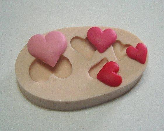 782 - 4 corações médios