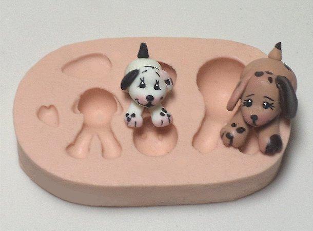 234 - 2 Cachorrinhos mini 3D