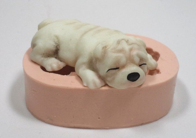 986 - Cachorro deitado 3D