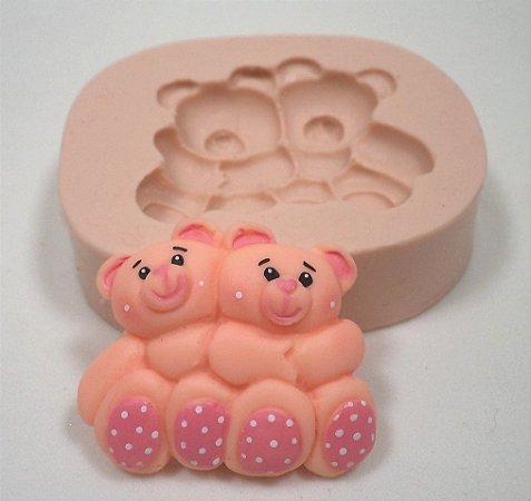 862 - Ursinhos abraçadinhos minis