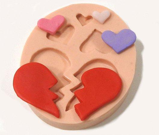 449 - Coração partido e corações minis