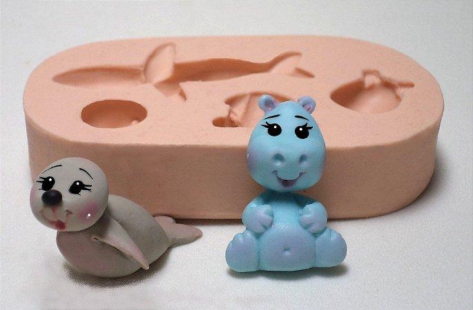 229 - Hipopótamo e Foca minis