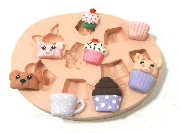 516 - Cup cake c/ bichinhos minis