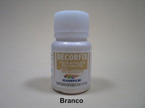 Tinta Acrílica Metálica DECORFIX - 37 ml - Branco