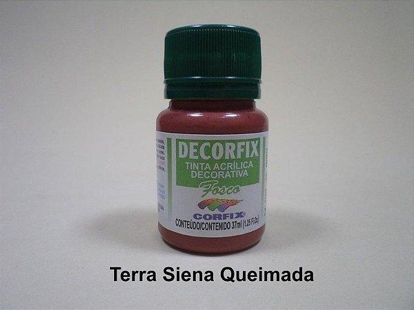 Tinta Acrílica DECORFIX - Fosca - 37 ml. -Terra de Siena Queimada
