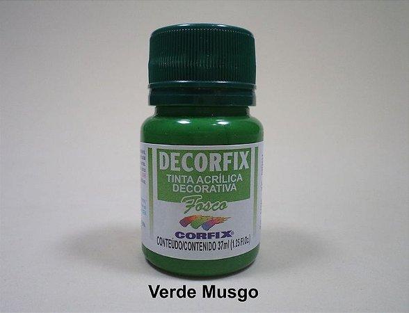 Tinta Acrílica DECORFIX - Fosca - 37 ml. - Verde Musgo