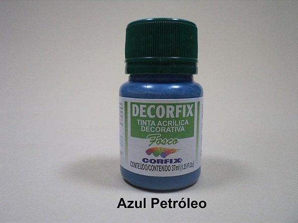 Tinta Acrílica DECORFIX - Fosca - 37 ml. - Azul Petróleo