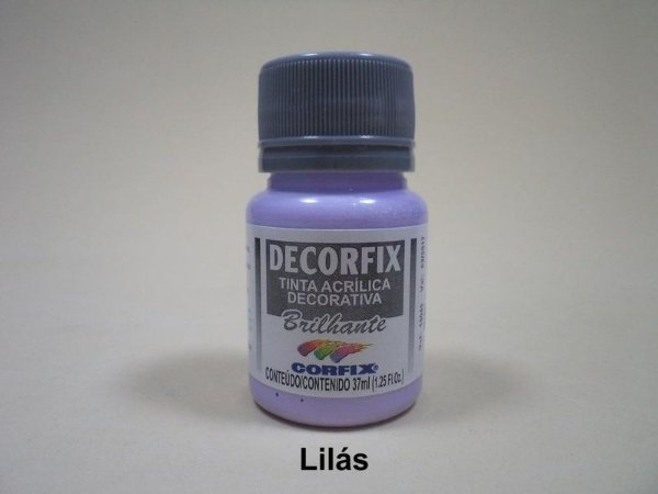 Tinta Acrílica DECORFIX - Brilhante- 37 ml. - Lilás