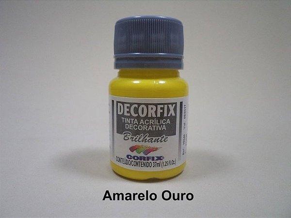 Tinta Acrílica DECORFIX - Brilhante- 37 ml. - Amarelo Ouro