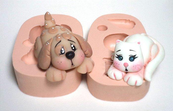 100 - Kit Gato e Cachorro