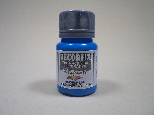Tinta Acrílica DECORFIX - Brilhante- 37 ml. - Azul Celeste