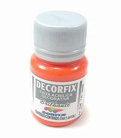 Tinta Acrílica DECORFIX - Brilhante- 37 ml. - Laranja