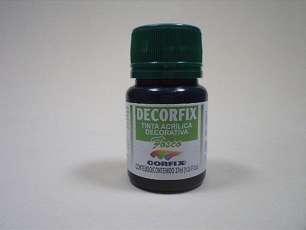 Tinta Acrílica DECORFIX - Fosca - 37 ml. - Preto