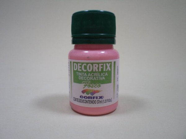 Tinta Acrílica DECORFIX - Fosca - 37 ml. - Rosa Chá
