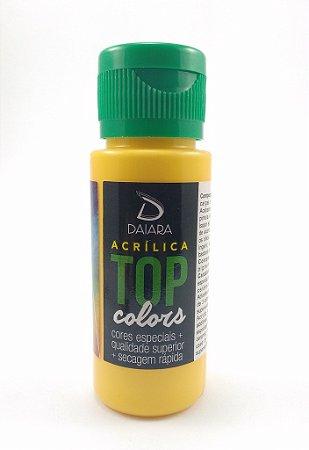 Tinta Acrílica Fosco 60 ml - Daiara - Amarelo Ouro
