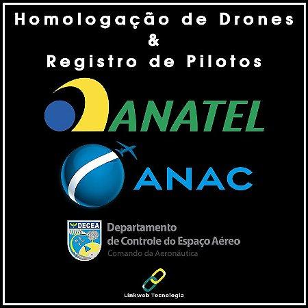 Homologação De Drone + Registro Piloto + Taxa + Impressões