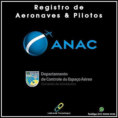 Registro de Aeronaves e Pilotos: ANAC + DECEA + SELOS