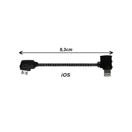 Cabo OTG Micro USB - iOS para Drone DJI Mavic, Spark