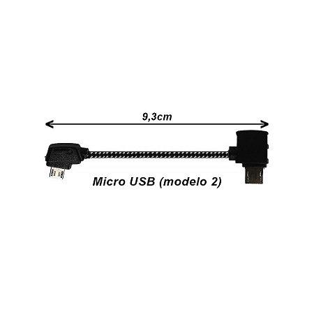 Cabo OTG Micro USB - Micro USB 2 para Drone DJI Mavic, Spark