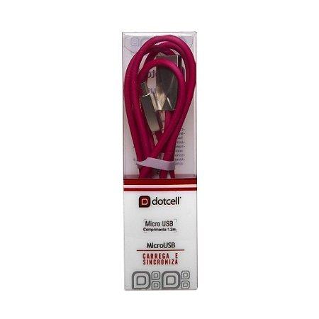 Cabo USB DC-CD3002 MIC.USB (Rosa) (1m)