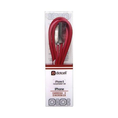 Cabo USB DC-CD3001 IPH6 (Vermelho) (1m)