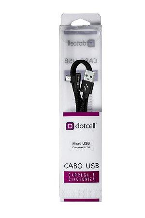 Cabo USB DC-1116 Micro USB(Preto)