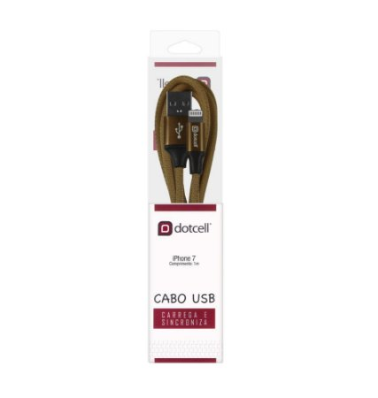 CABO USB IPHONE DOTCELL DC-1110 MARROM