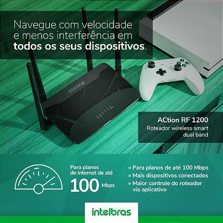 Roteador Wi-Fi Intelbras Action Rf 1200