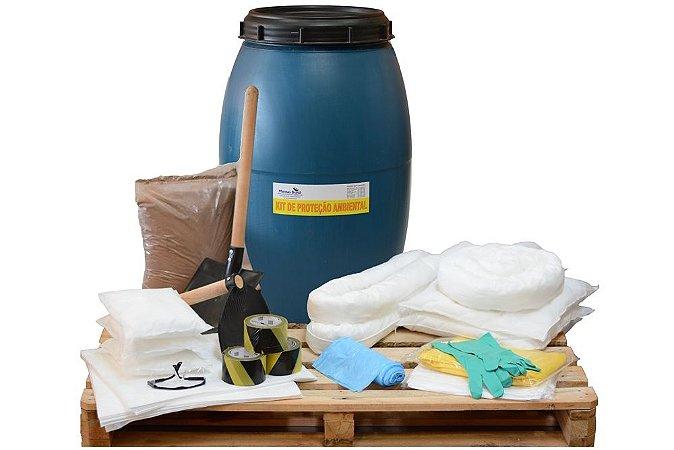 Kit Proteção Ambiental 200 litros – Linha Branca – Bombona - Kit SOPEP - Mitigação