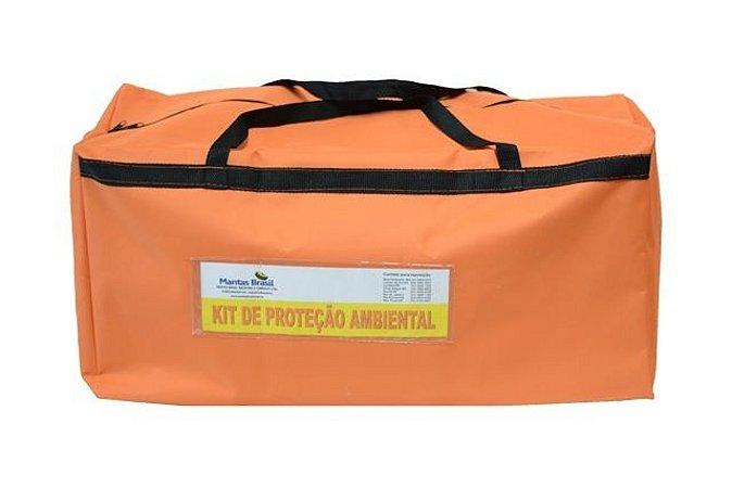Bolsa Laranja para Montar Kit de Proteção Ambiental com visor  75X33X30CM