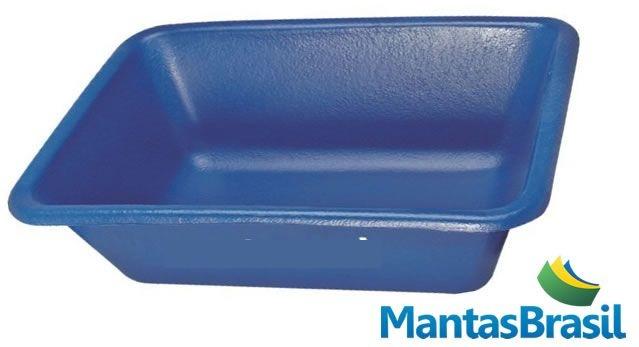 Bandeja Plástica para contenção de óleo Capacidade de 50 litros na cor azul – 22x70x50cm