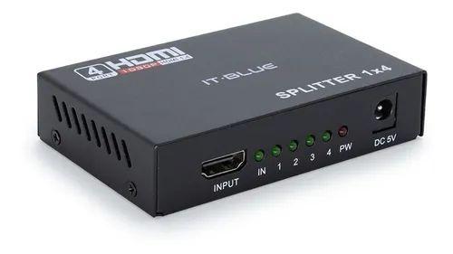 Splitter Divisor HDMI 1 x 4 1 entrada e 4 saída 1080P 3D versão 1.4 para 4 TVs ou 4 monitores.